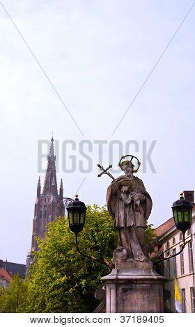 Old town center of Bruges