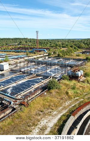 Industrial Water Treatment Plant In Evergreen Forests