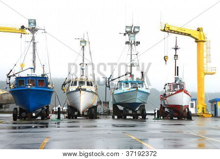 Boats On Dock,  Port Ortford