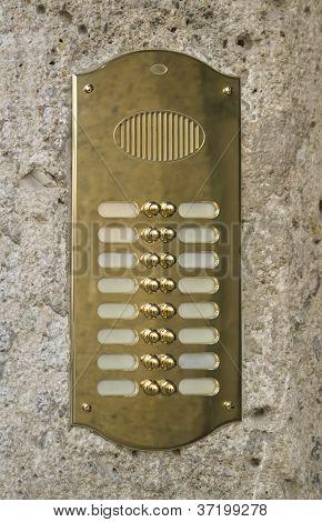 Metallic Doorbell Plate
