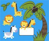 baby jungle vector