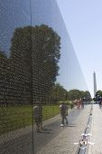 Vietnam War Memorial With Washington Monument poster
