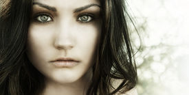 picture of pale skin  - Close up photo of beautiful young woman - JPG