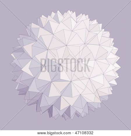 Spherical shape. Vector illustration.