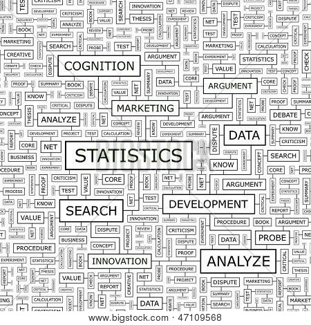 STATISTICS. Word cloud concept illustration.