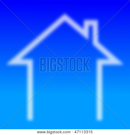 Indistinct house with