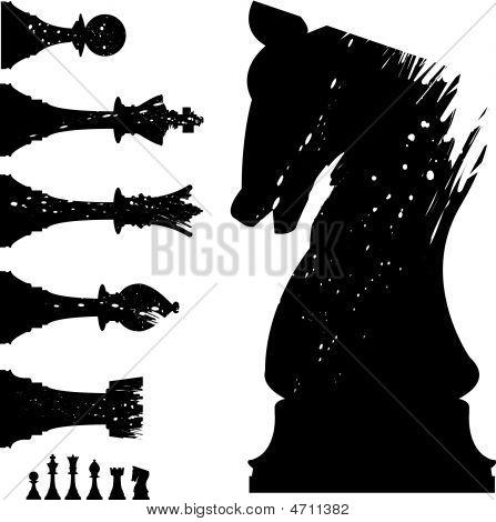 Grunge-xadrez