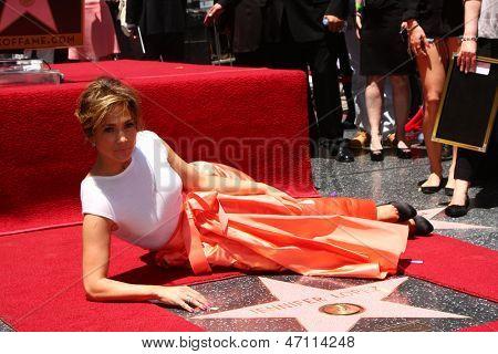 LOS ANGELES - JUN 20:  Jennifer Lopez at the Hollywood Walk of Fame star ceremony for Jennifer Lopez at the W Hollywood Hotel on June 20, 2013 in Los Angeles, CA