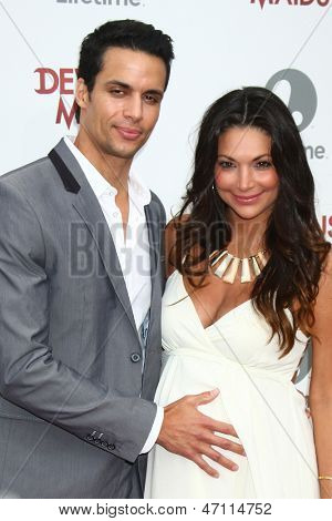 LOS ANGELES - JUN 17:  Matt Cedeno, Erica Franco arrives at the