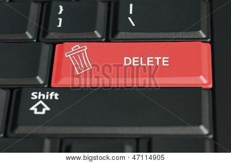 Delete Button On A Keyboard