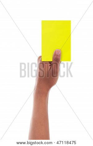 African Referee Giving A Yellow Card  - African People