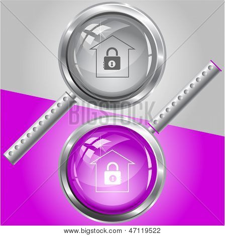 Bank. Raster magnifying glass. Vector version is in my portfolio.