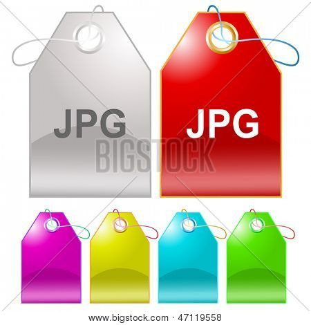 Jpg. Raster tags. Vector version is in my portfolio.