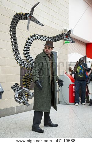LONDON, UK - May 26: Doctor Octopus cosplayers posing at the MCMExpo at the Excel Centre. May 26, 2013 in London.