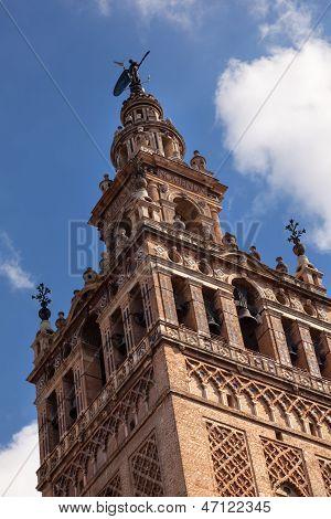 Campanario Giralda Catedral de Santa María de la ver Spire Giraldillo Sevilla España