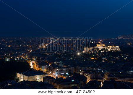 Athens skyline aerial view