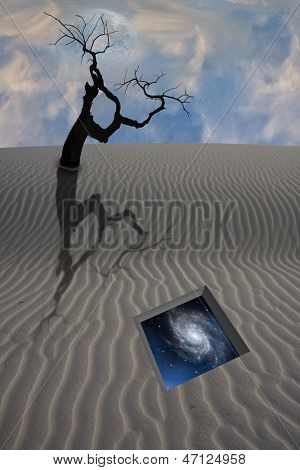 Desert dune with gate to the stars