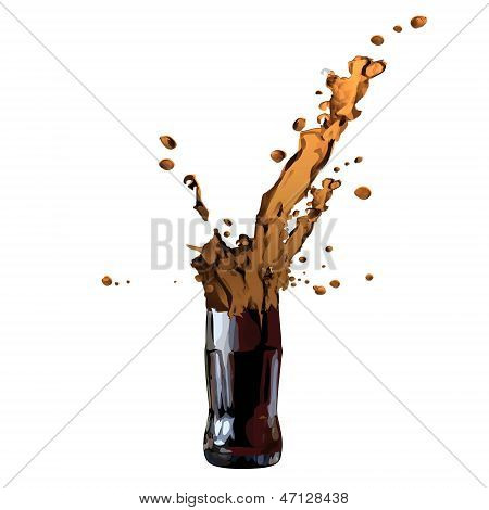 Broken Bottle. Isolated On White. Vector Design.
