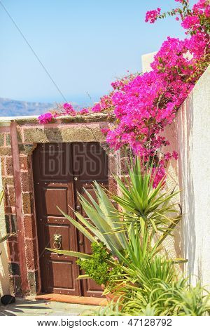 Greek Input In House In Firostefani, Santorini, Greece