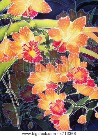 Orange Batik Orchids