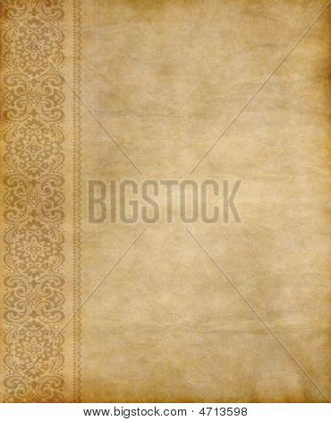 Old Floral Parchment