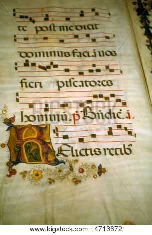 Illuminated Manuscript, In Medieval Library