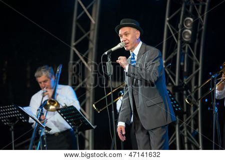 MOSCOW - JUNE 15: Alexander F Sklyar performs on open-air X International Festival