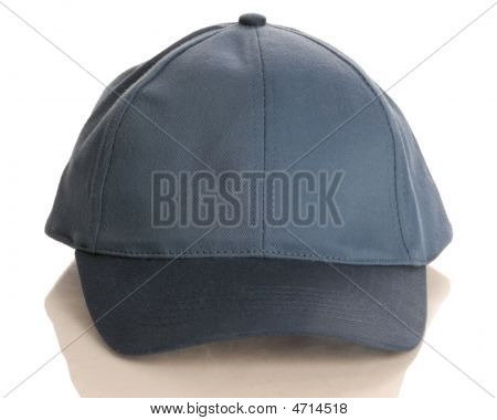 Blue Baseball Cap Front View