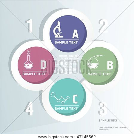 Stylish Infographic Background  With Science Icons