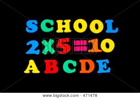 Toy Letters And Numbers - School