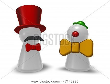 Clown And Ringmaster