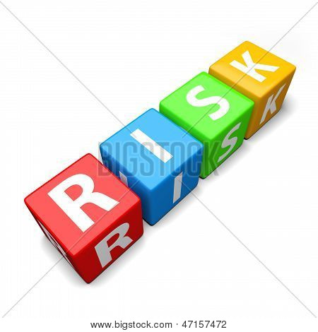 Risk Word Made Of Colorful Toy Blocks