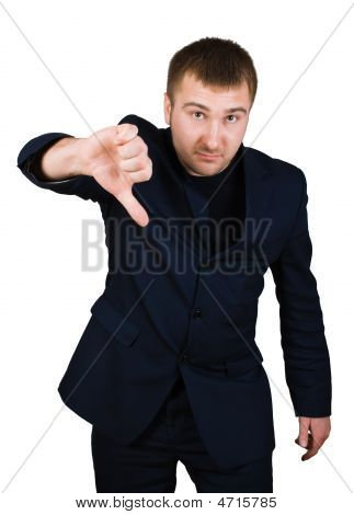 Businessman Show Thumb Down Sing