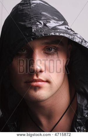 Portrait Of A Goth Man