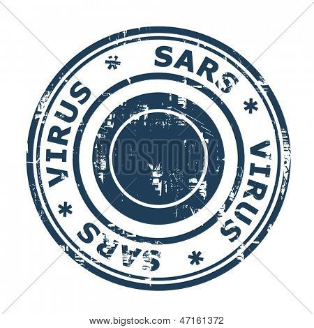 Severe acute respiratory syndrome, SARS, isolated on a white background.