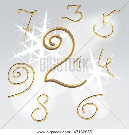 Golden Numbers Festive Set