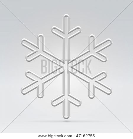 Wire Snowflake Illustration