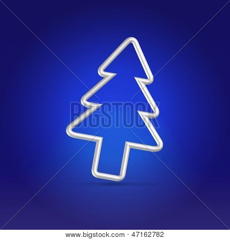 Christmas Greetings Blue Postcard