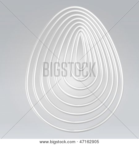 Wire Contoured Egg Background
