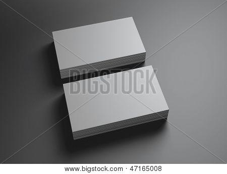2 Sets van naamkaartjes horizontaal A