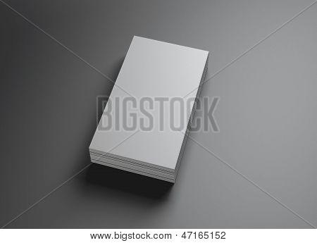 Set van naamkaartjes verticaal
