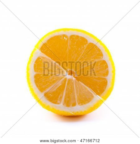 Isolated lemon
