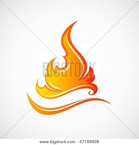 Fire flames.