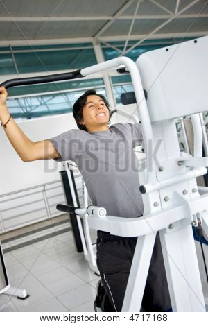 Man Doing Chin Ups
