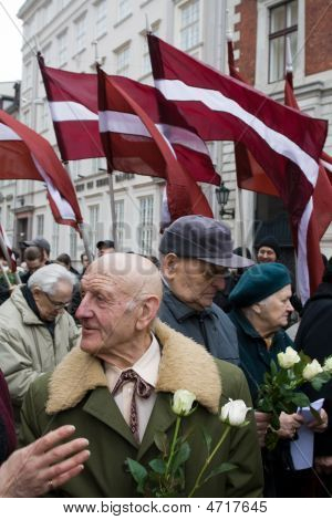 Commemoration Of The Latvian Waffen Ss Unit