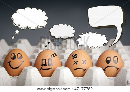 Thought Balloon Egg Characters