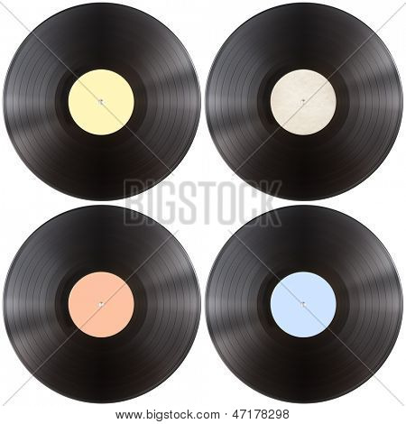 vinyl gramophone record disk isolated