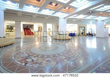 MOSCOW - NOV 21: Interior in foyer of the Central Academic Theatre of the Russian Army, on Nov 21, 2012 in Moscow, Russia