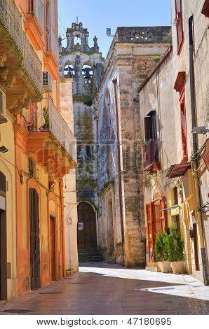 Alleyway. Castellaneta. Puglia. Italy.