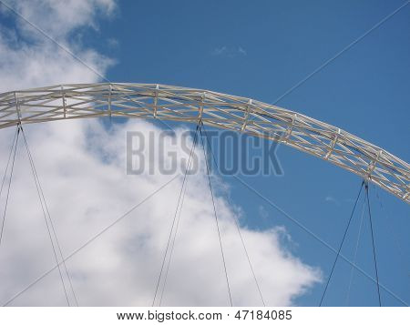 White arched framework